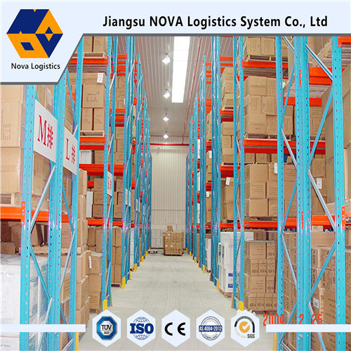 Blue Frame dan Orange Beam Pallet Racking dengan Ce Certificated