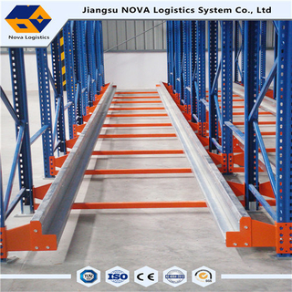 Radio Shuttle Racking Racking Runner Pallet Komersial